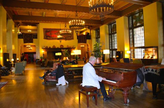 The Majestic Yosemite Dining Room: The Awhahnee Great Room, With Huge  Fireplace And Pianist
