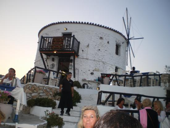 Bourtzi Hotel: Wind mill restaurant fabulous food with wonderful view