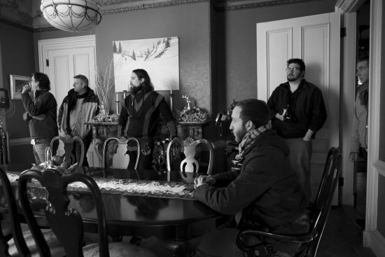 Proctor Mansion Inn : making a movie in the dining room