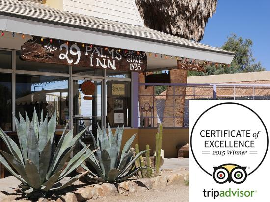 29 Palms Inn: Thank you to all our past guests for your kind reviews, we are honored to receive this award!
