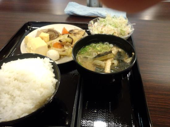 Super Hotel Osaka Tanimachi 4 Chome : 無料とは思えない朝食メニュー