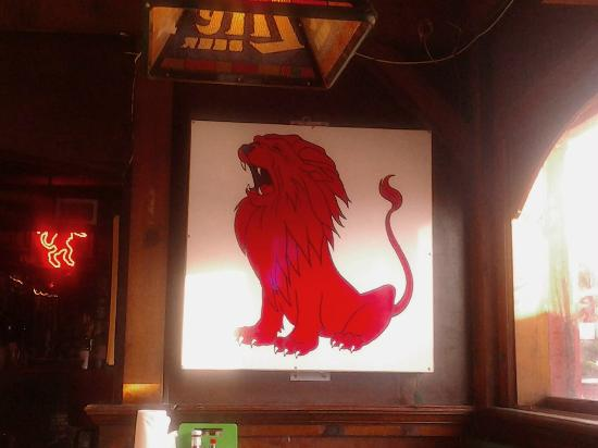 One of the cool signs in the Red Lion Pub.