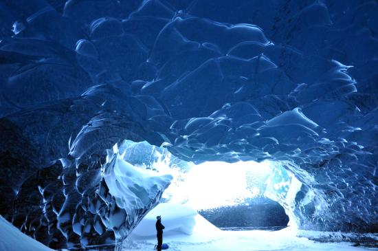 Skaftafell, Iceland: Like an ant in the ice cave