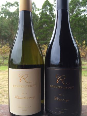 Ravens Croft Wines Cellar Door: Beautiful Autumn colours and our new release Pinotage and Chardonnay. Both exceptional wines, ma