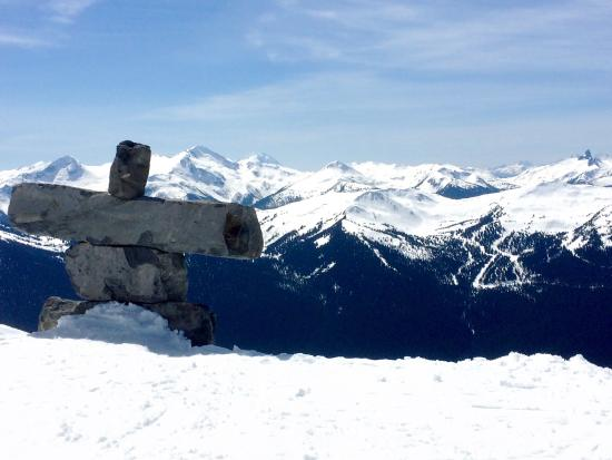 Glacier Lodge: Blackcomb mountain from the near the summit.