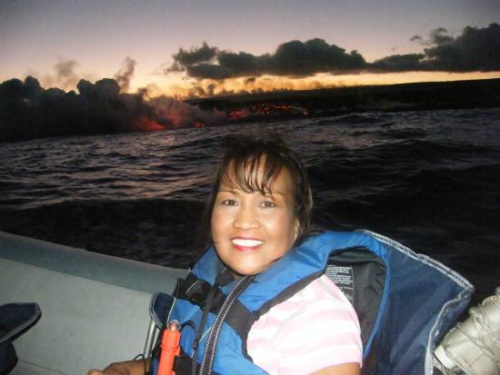Lava Roy's Ocean Adventure Tours : My wife enjoying the sights!