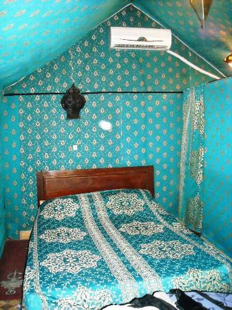 Dar Salam: The heavily draped Berber tent-like room on the rooftop patio