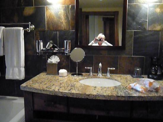 White Buffalo Club - Hotel: I want this bathroom at home/washer and dryer in closet in bathroom