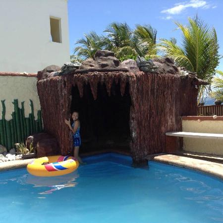 mini cave by the pool