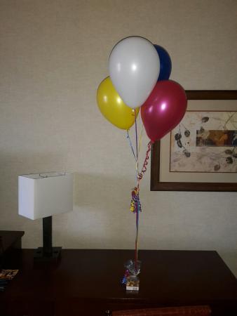 Harrah's Joliet: Anniversary suprise in our room, Thanks Harrah's!
