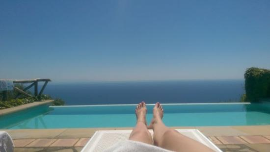 Villa Raffaela : the pool view