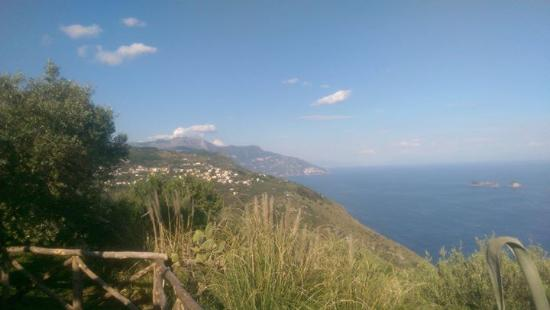 Villa Raffaela : another view from the pool over towards Positano and Amalfi.