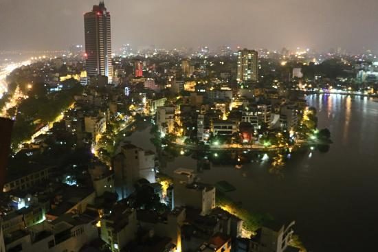 view from the sky bar picture of sofitel plaza hanoi hanoi tripadvisor. Black Bedroom Furniture Sets. Home Design Ideas