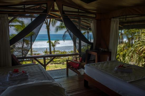 La Leona Eco Lodge: Ocean View, Front row, private bath