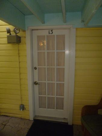 At The Door Of Room 13 At