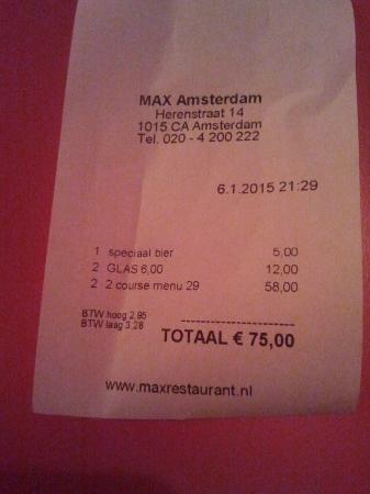 MAX Amsterdam: cuenta