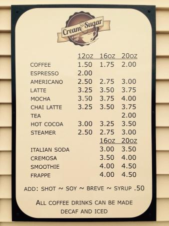 Ellendale, ND: Cream & Sugar a mini cafe