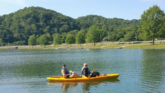 Adventures Outdoors Kayak & Bike Rentals: Two person Kayak.