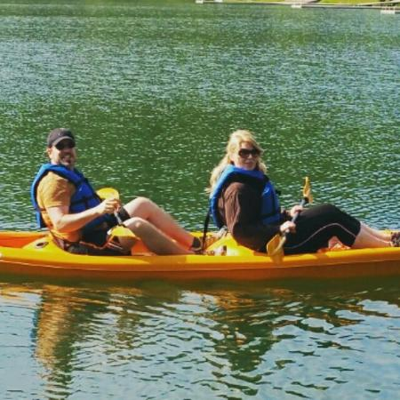 Adventures Outdoors Kayak & Bike Rentals: Two person Kayak.