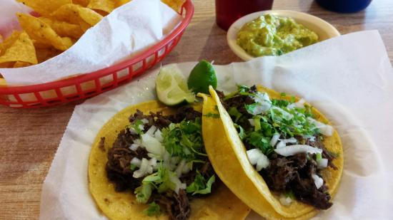 Barbacoa tacos are outstanding at El Tapatio in Gatesville, TX.