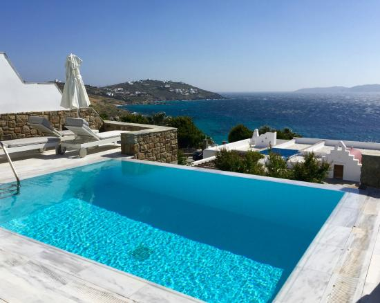Mykonos Grand Hotel Resort Semi Private Pool View