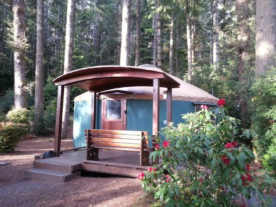 Umpqua lighthouse state park yurts reedsport or for Oregon state parks yurts and cabins