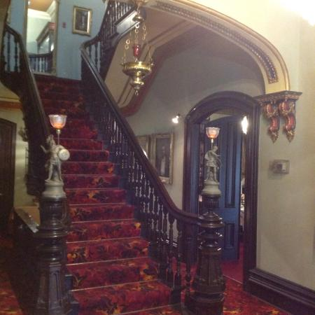 Glanmore National Historic Site: An elegant entry stairway to bedrooms and library