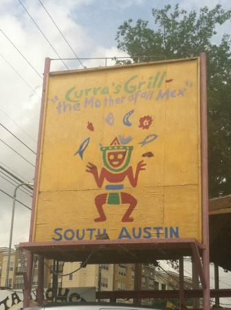 Curra's Grill: Street Sign
