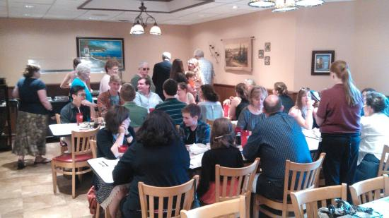 Avanti's Ristorante: In one of their banquet dining rooms for a group