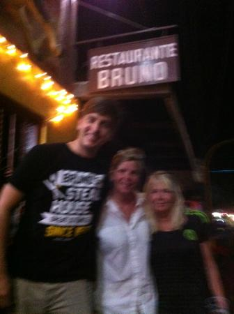 Bruno's Restaurant: Thanks Kelton for a GREAT MEAL !