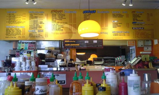 Bob's Submarine Sandwiches: Menu Board