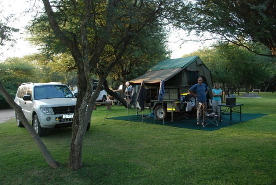 Grassed camp sites
