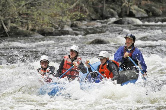 Square Eddy Expeditions: Action shot by Melody from Tree on River ...we 4  were  in raft