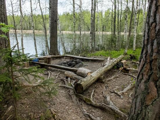 Niihaman Maja: Campfire place