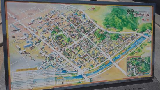 Map Picture Of Jeonju Hanok Village Jeonju TripAdvisor - Jeongju map