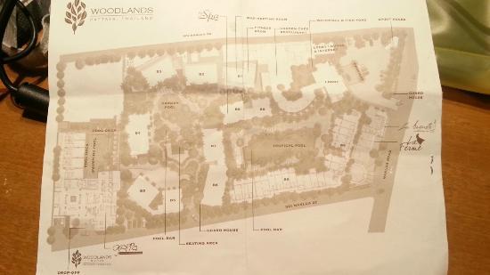 Woodlands Hotel & Resort: ホテル内MAP