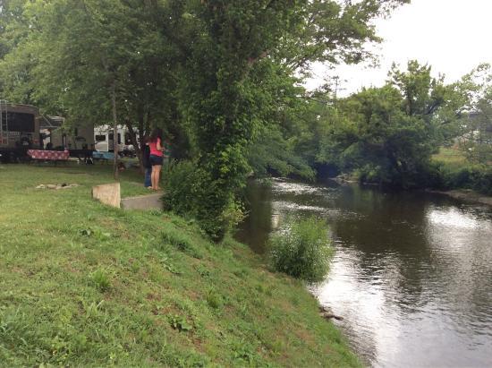 Riverbend Campground: River adjacent to RV sites