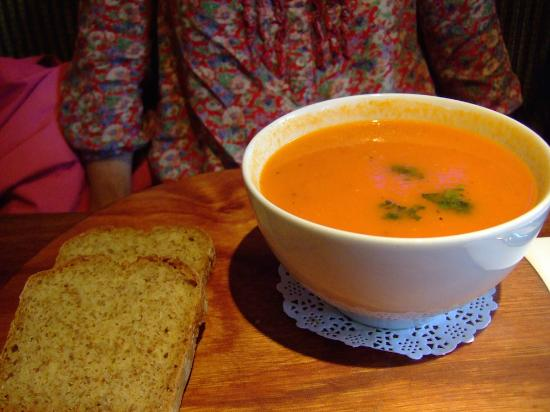 High Cafe: The carrot and tomato soup