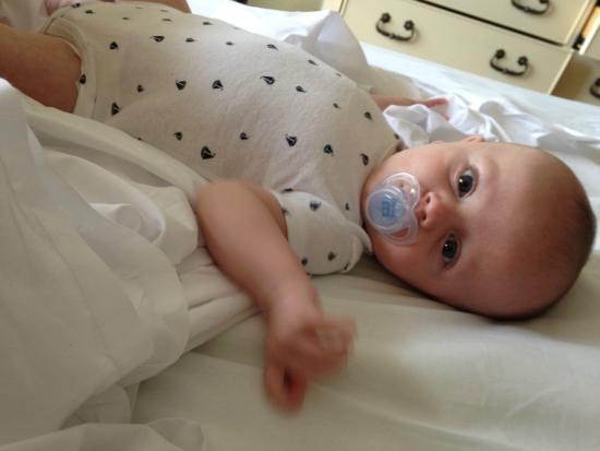Sea Mist Oceanfront Resort: Baby on the bed