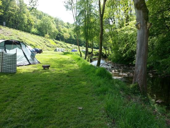 Priory Mill Farm Campsite: Camping on the river bank
