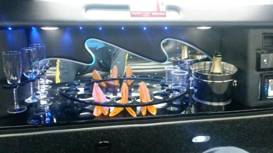 Limo luxury mini bar picture of prague airport transfers for Prague airport transfers sro reviews