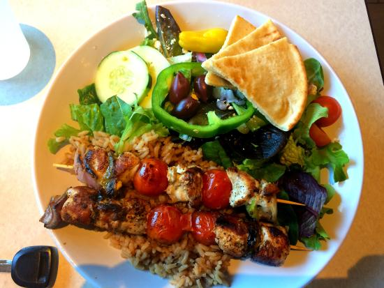 Zoes Kitchen Salmon Kabob chicken kabob - picture of zoes kitchen, tallahassee - tripadvisor