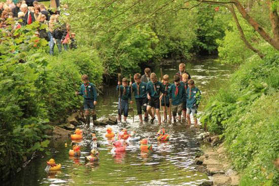 Bramall Hall: Duck race