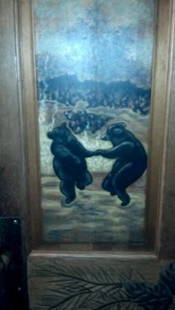 "Saskatoon Steaks Fish Wild Game: LOVE the ""Dancing Bear"" side panels!"