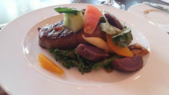 Luma : Chef's Special - 10 Oz Flat Iron Steak with Purple Potatoes etc