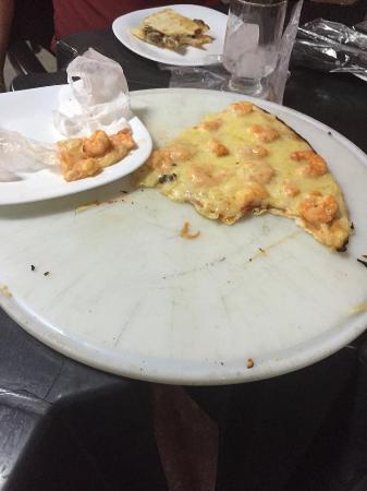 Chao de Estrelas: Pizza de camarão estragada