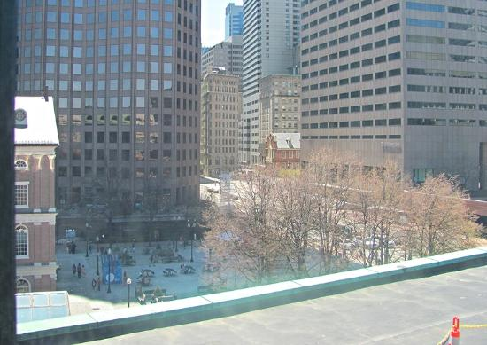 The Bostonian Boston: View from 638, standard king. Faneuil Hall to left, HVAC to right, out of photo view.