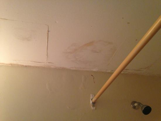 Water Damage All Throughout The Bathroom Ceiling Picture Of - Bathroom ceiling water damage