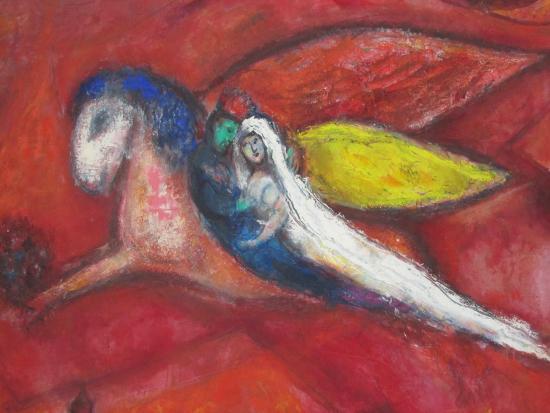 L\'envol des jeunes mariés - Picture of Musee National Marc Chagall ...