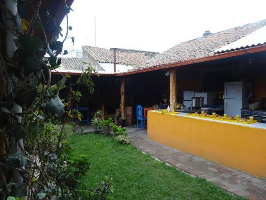 Hostal Tiana: jardin petit déj'